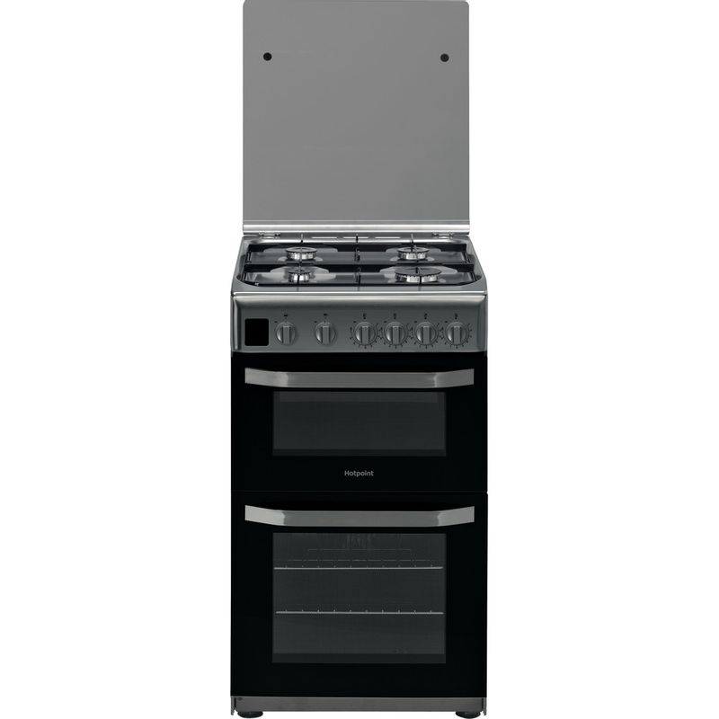 Hotpoint-Double-Cooker-HD5G00CCX-UK-Inox-A--Stainless-steel-Frontal