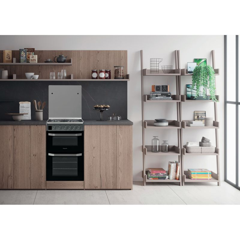 Hotpoint-Double-Cooker-HD5G00CCX-UK-Inox-A--Stainless-steel-Lifestyle-frontal