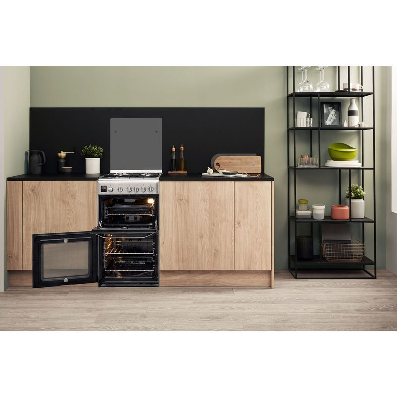 Hotpoint-Double-Cooker-HD5G00CCX-UK-Inox-A--Stainless-steel-Lifestyle-frontal-open
