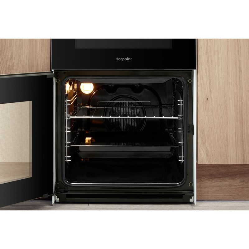 Hotpoint-Double-Cooker-HD5V92KCW-UK-White-A-Vitroceramic-Lifestyle-frontal-open
