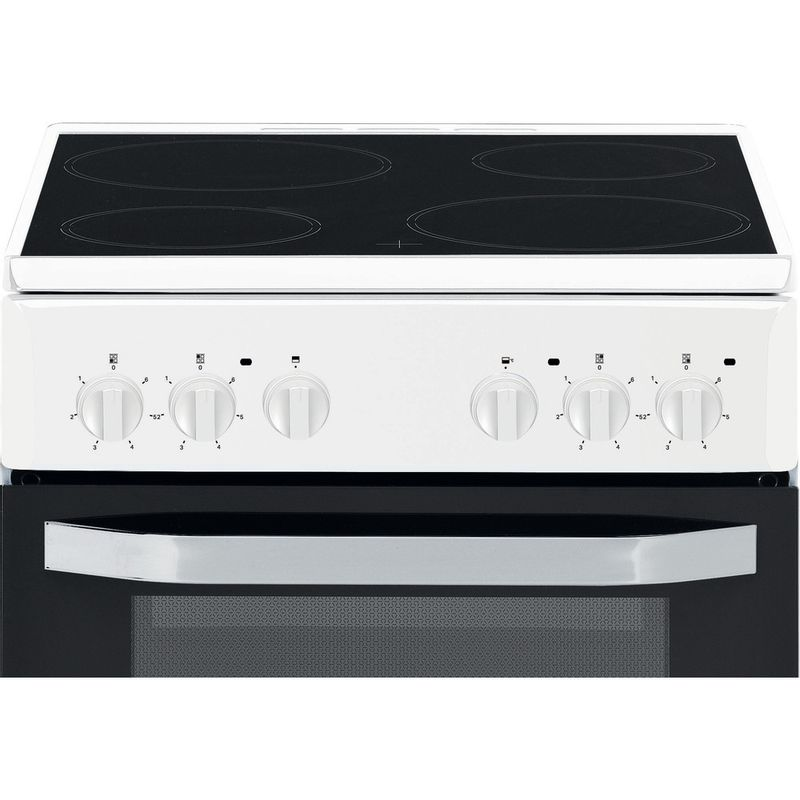 Hotpoint-Double-Cooker-HD5V92KCW-UK-White-A-Vitroceramic-Control-panel