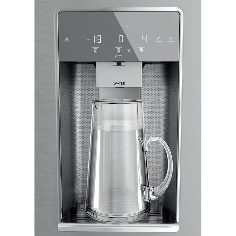 Hotpoint-Side-by-Side-Free-standing-HQ9I-MO1L-UK-Inox-Look-Frontal