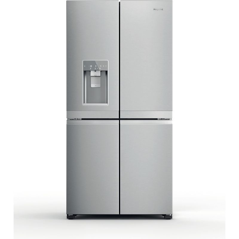Hotpoint-Side-by-Side-Free-standing-HQ9I-MO1L-UK-Inox-Look-Perspective
