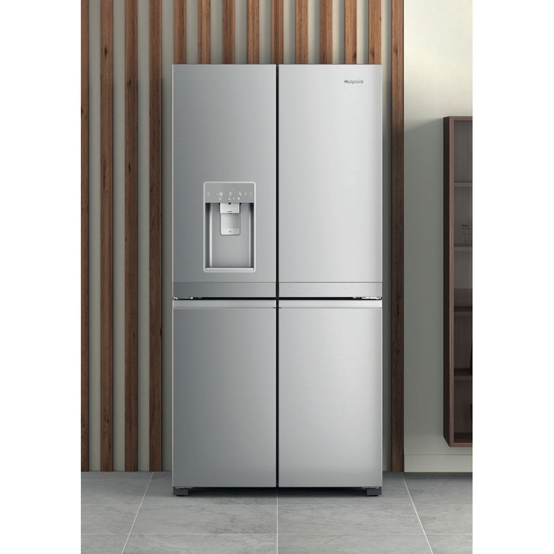Hotpoint-Side-by-Side-Free-standing-HQ9I-MO1L-UK-Inox-Look-Lifestyle-frontal