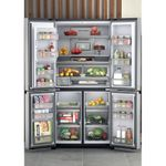 Hotpoint-Side-by-Side-Free-standing-HQ9I-MO1L-UK-Inox-Look-Lifestyle-frontal-open