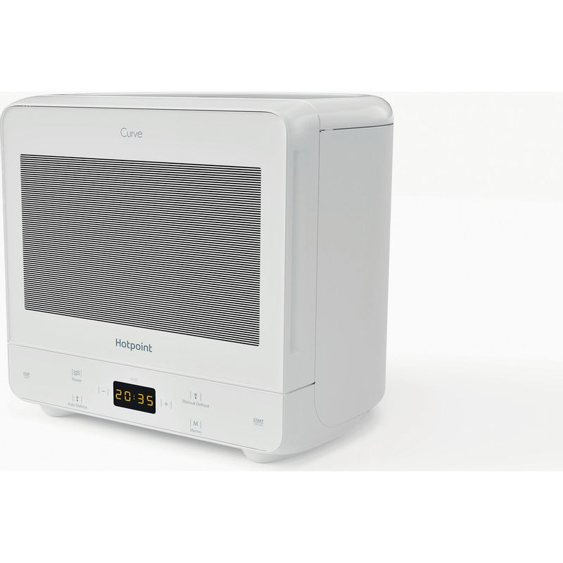 Hotpoint-Microwave-Free-standing-MWH-1331-FW-White-Electronic-13-MW-only-700-Perspective