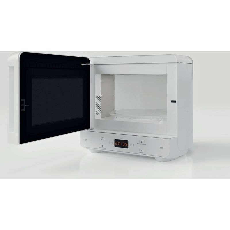 Hotpoint-Microwave-Free-standing-MWH-1331-FW-White-Electronic-13-MW-only-700-Perspective_Open