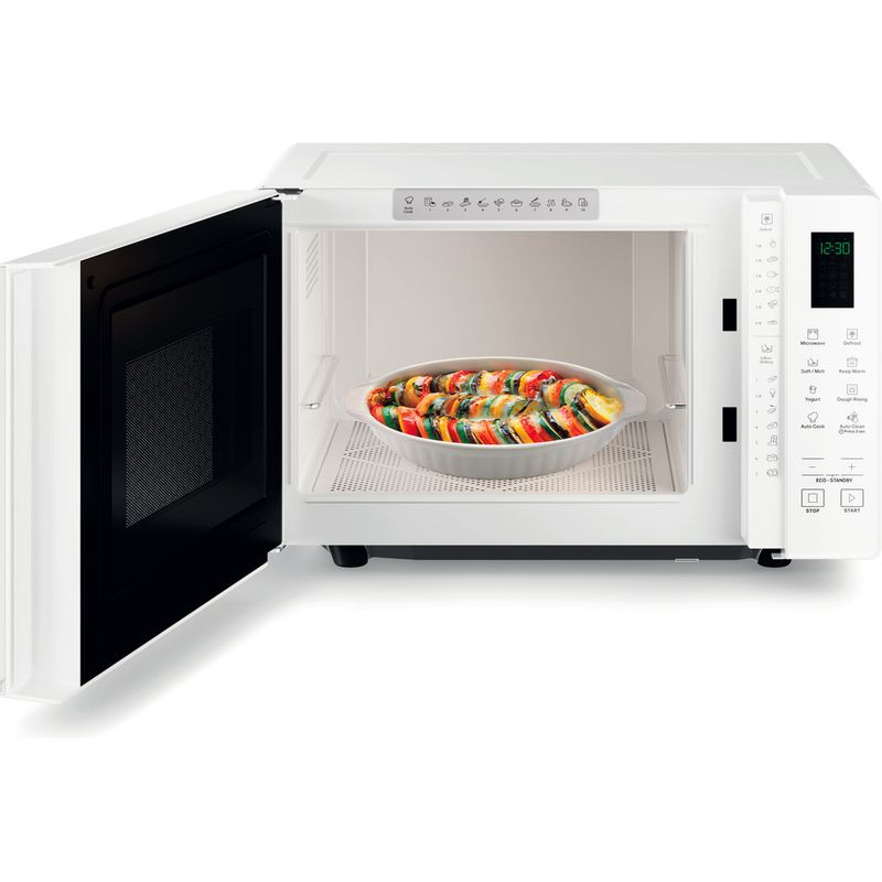 Hotpoint-Microwave-Free-standing-MWHF-201-W-White-Electronic-20-MW-only-800-Frontal_Open