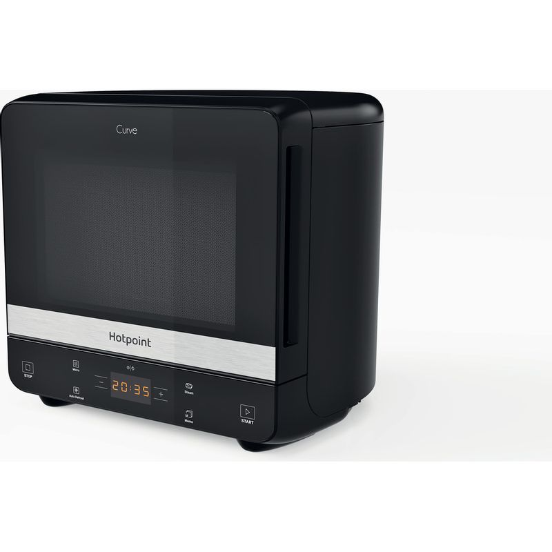 Hotpoint-Microwave-Free-standing-MWHC-1335-MB-Black-Matt-Electronic-13-MW-only-700-Perspective