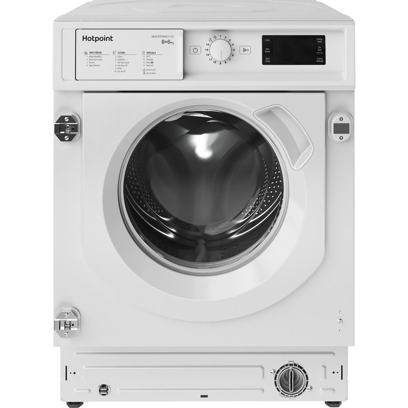 Hotpoint-Washer-dryer-Built-in-BI-WDHG-861484-UK-White-Front-loader-Frontal