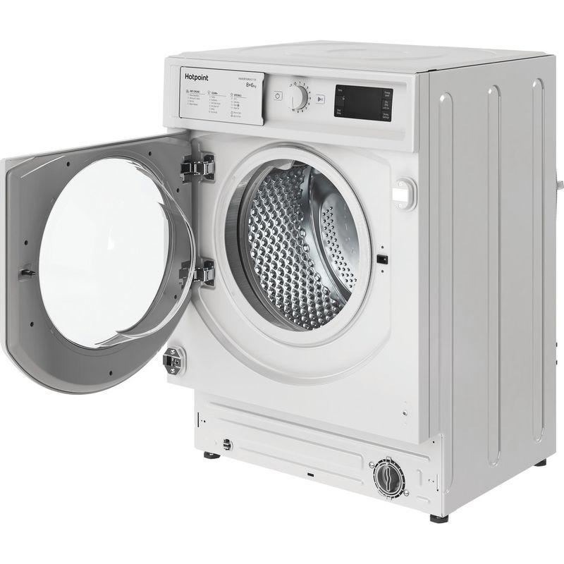 Hotpoint-Washer-dryer-Built-in-BI-WDHG-861484-UK-White-Front-loader-Perspective-open