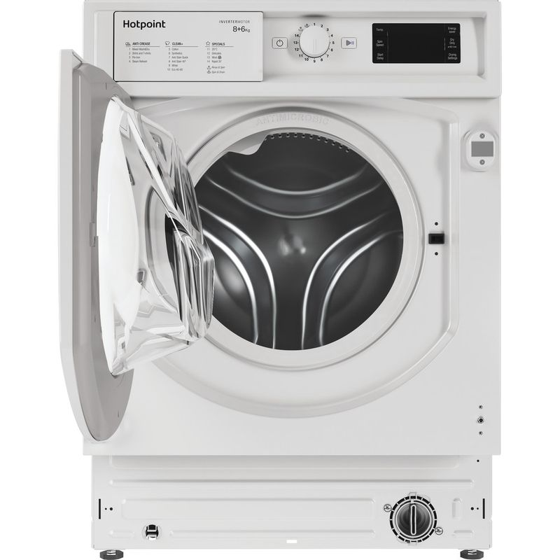 Hotpoint-Washer-dryer-Built-in-BI-WDHG-861484-UK-White-Front-loader-Frontal-open