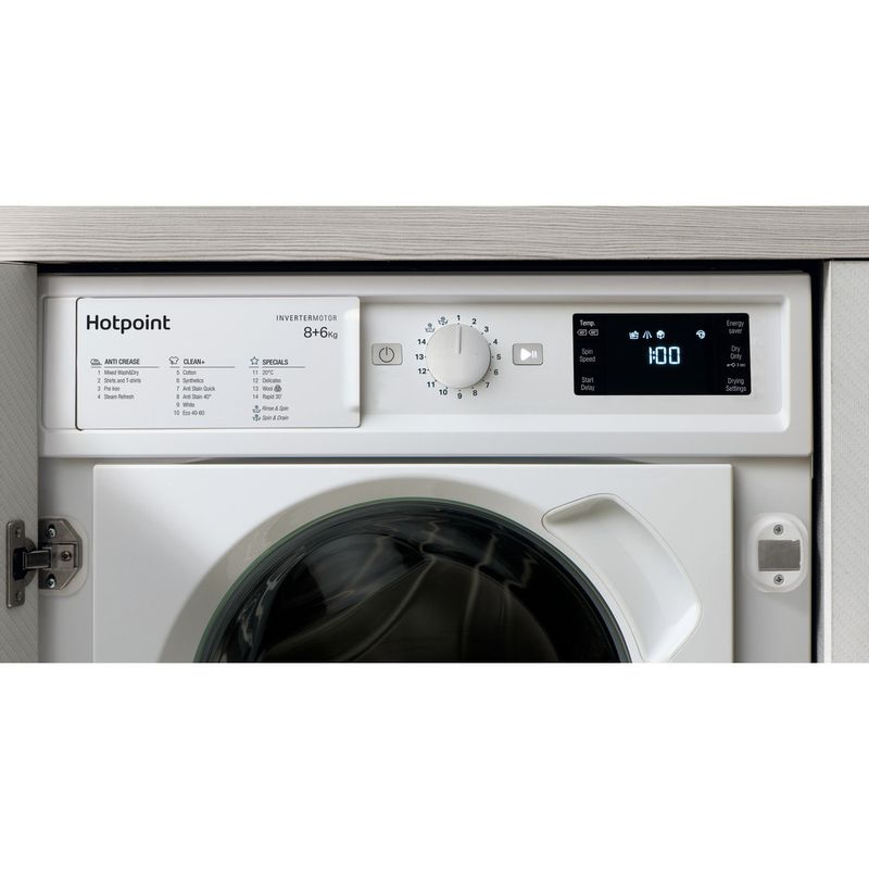 Hotpoint-Washer-dryer-Built-in-BI-WDHG-861484-UK-White-Front-loader-Lifestyle-control-panel