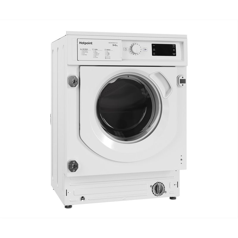 Hotpoint-Washer-dryer-Built-in-BI-WDHG-961484-UK-White-Front-loader-Perspective