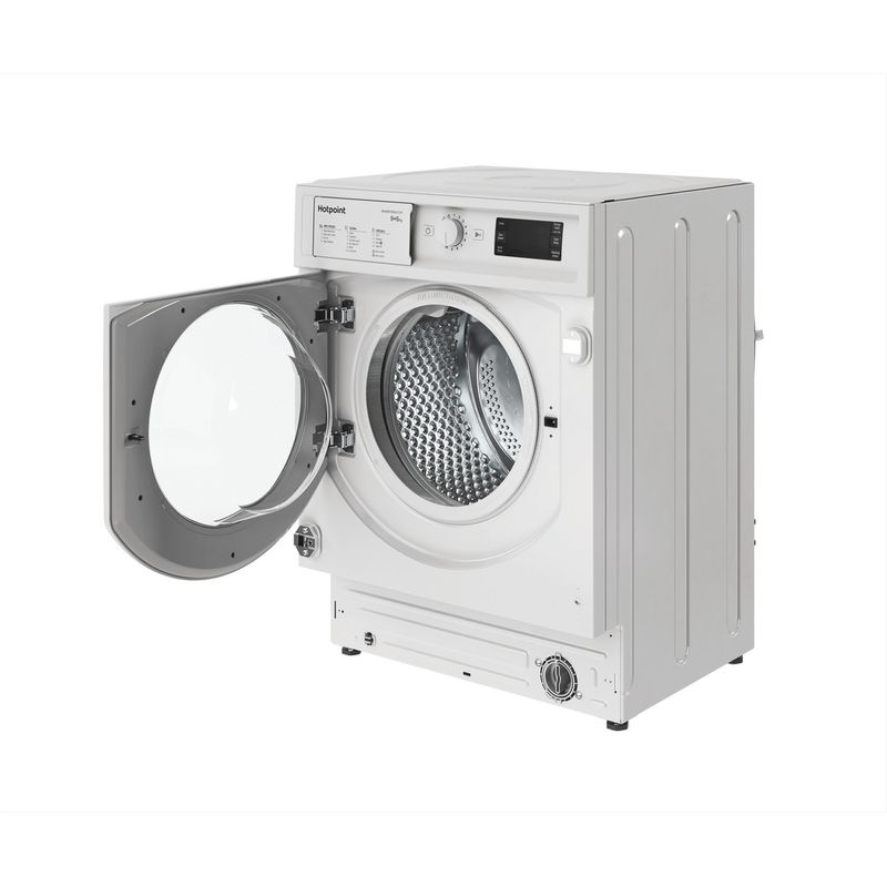Hotpoint-Washer-dryer-Built-in-BI-WDHG-961484-UK-White-Front-loader-Perspective-open