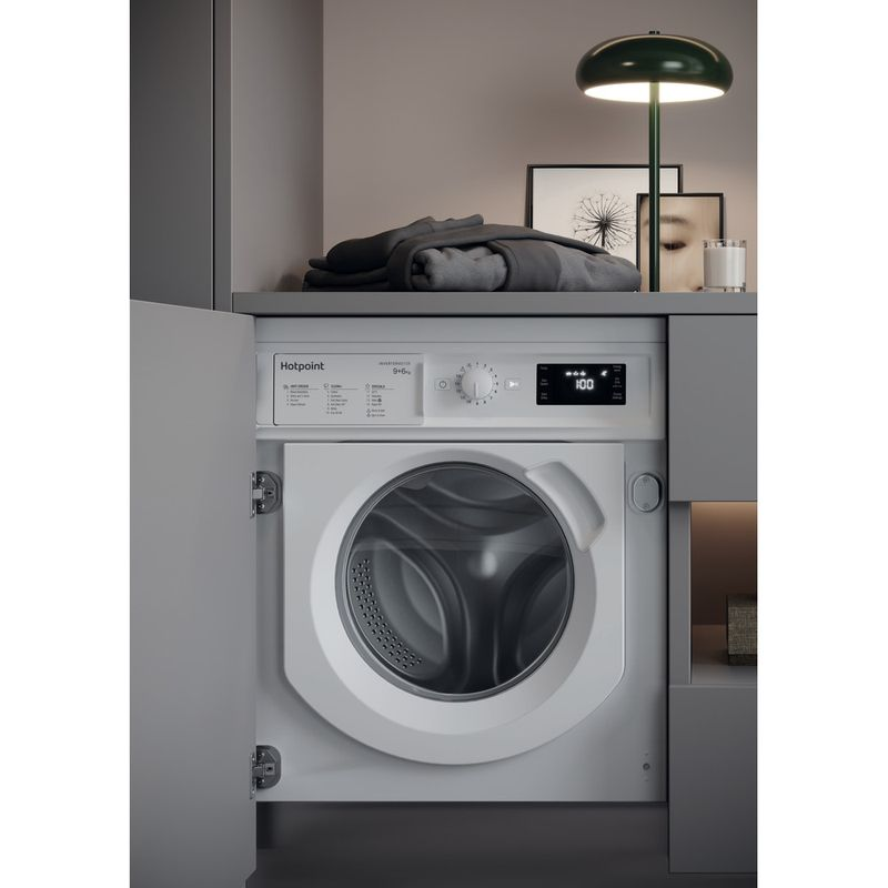 Hotpoint-Washer-dryer-Built-in-BI-WDHG-961484-UK-White-Front-loader-Lifestyle-perspective