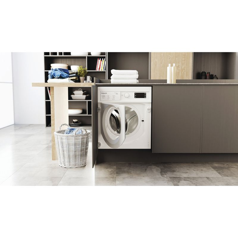 Hotpoint-Washer-dryer-Built-in-BI-WDHG-961484-UK-White-Front-loader-Lifestyle-frontal-open