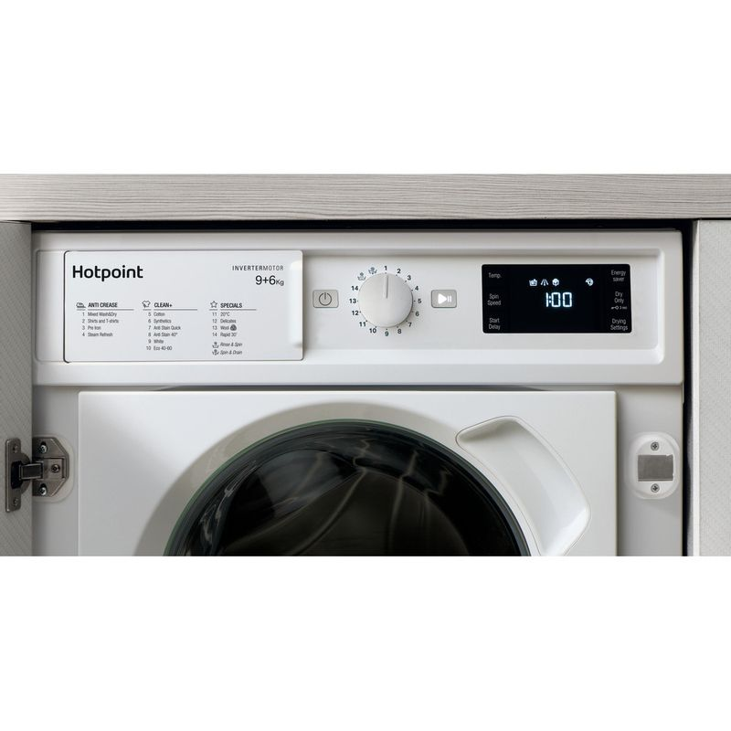 Hotpoint-Washer-dryer-Built-in-BI-WDHG-961484-UK-White-Front-loader-Lifestyle-control-panel