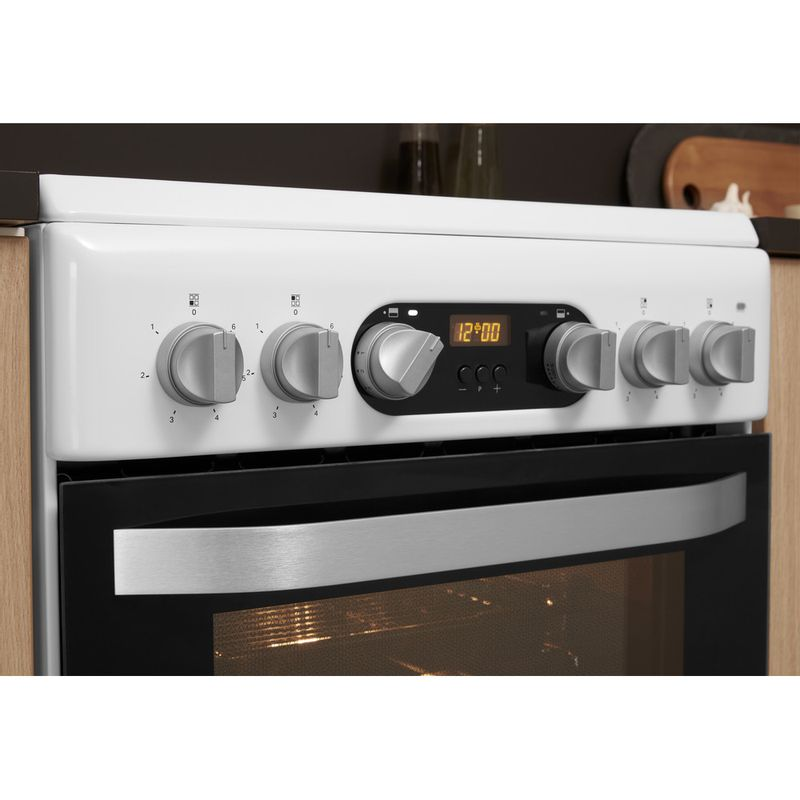 Hotpoint-Double-Cooker-HD5V93CCW-UK-White-A-Vitroceramic-Lifestyle-control-panel