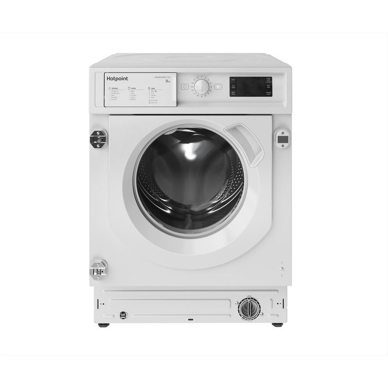 Hotpoint-Washing-machine-Built-in-BI-WMHG-91484-UK-White-Front-loader-C-Frontal