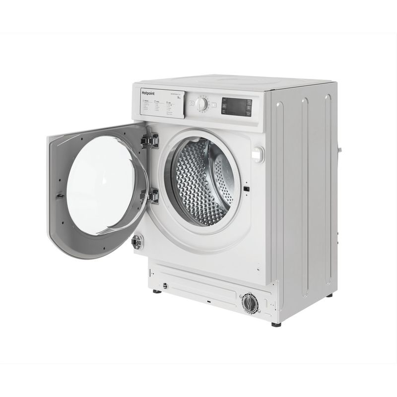 Hotpoint-Washing-machine-Built-in-BI-WMHG-91484-UK-White-Front-loader-C-Perspective-open