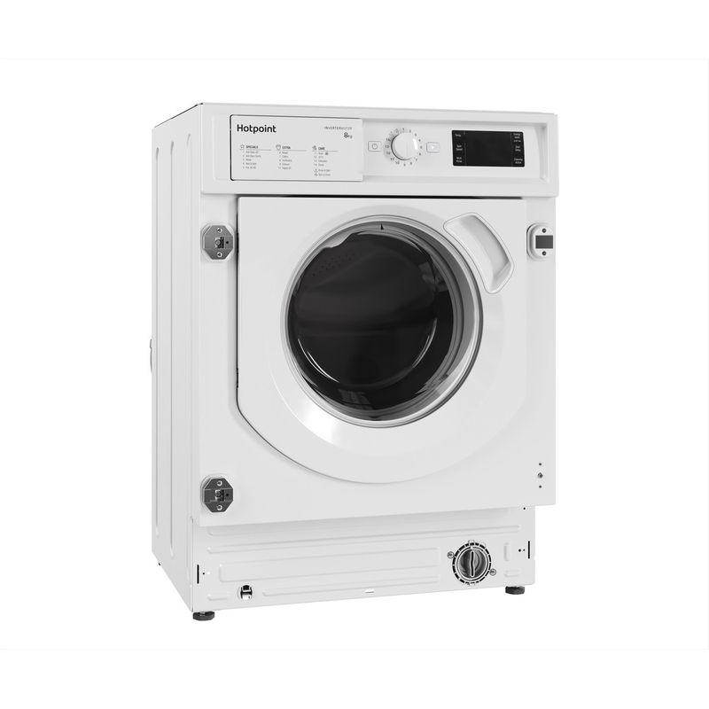 Hotpoint-Washing-machine-Built-in-BI-WMHG-81484-UK-White-Front-loader-C-Perspective