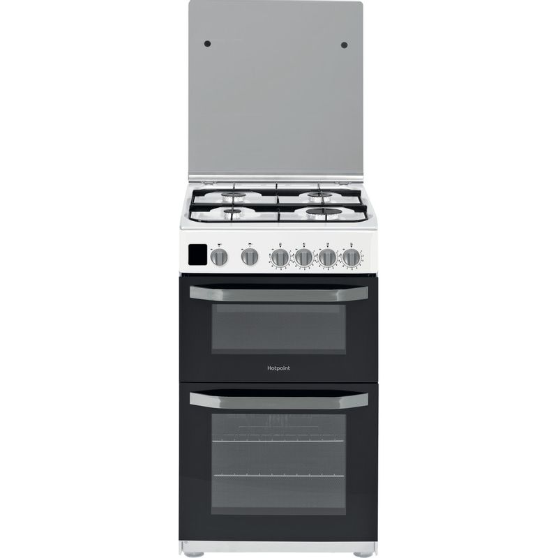 Hotpoint-Double-Cooker-HD5G00CCW-UK-White-A--Enamelled-Sheetmetal-Frontal