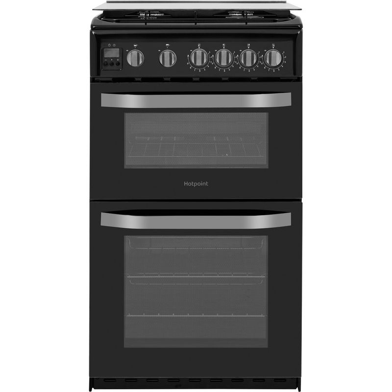 Hotpoint-Double-Cooker-HD5G00CCBK-UK-Black-A--Enamelled-Sheetmetal-Frontal