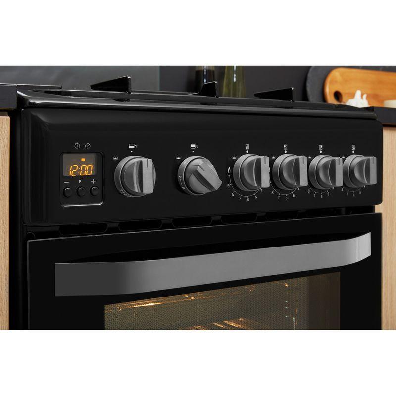 Hotpoint-Double-Cooker-HD5G00CCBK-UK-Black-A--Enamelled-Sheetmetal-Lifestyle-control-panel