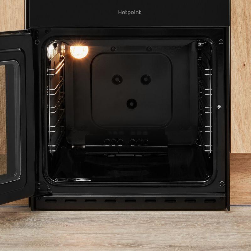 Hotpoint-Double-Cooker-HD5G00CCBK-UK-Black-A--Enamelled-Sheetmetal-Cavity