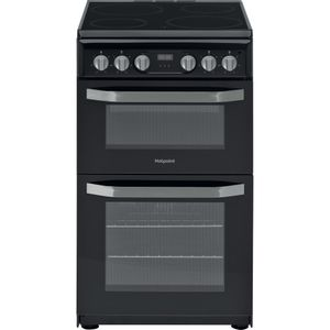 Hotpoint electric freestanding double cooker: 50cm