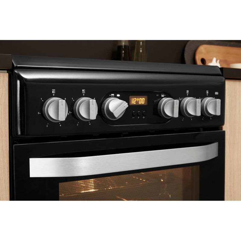 Hotpoint-Double-Cooker-HD5V93CCB-UK-White-A-Enamelled-Sheetmetal-Lifestyle-control-panel
