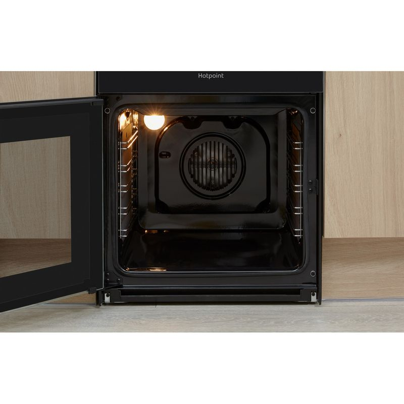 Hotpoint-Double-Cooker-HD5V93CCB-UK-White-A-Enamelled-Sheetmetal-Cavity