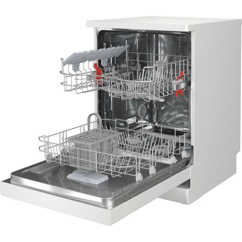 Hotpoint-Dishwasher-Free-standing-HFE-1B19-UK-Free-standing-F-Perspective-open