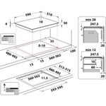 Hotpoint-HOB-TQ-1460S-NE-Black-Induction-vitroceramic-Technical-drawing