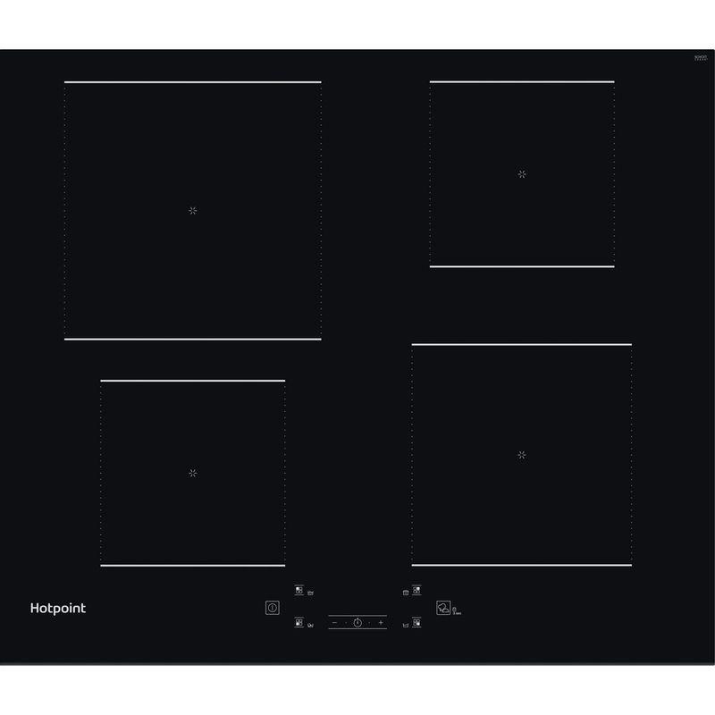 Hotpoint-HOB-TQ-4160S-BF-Black-Induction-vitroceramic-Frontal