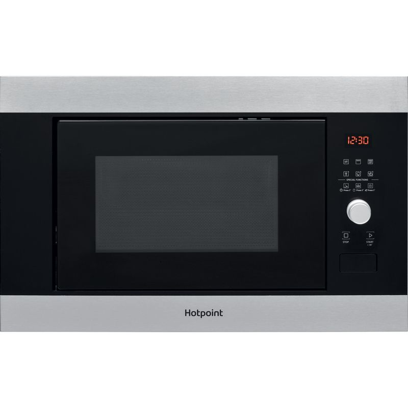 Hotpoint-Microwave-Built-in-MF25G-IX-H-Inox-Electronic-25-MW-Grill-function-900-Frontal