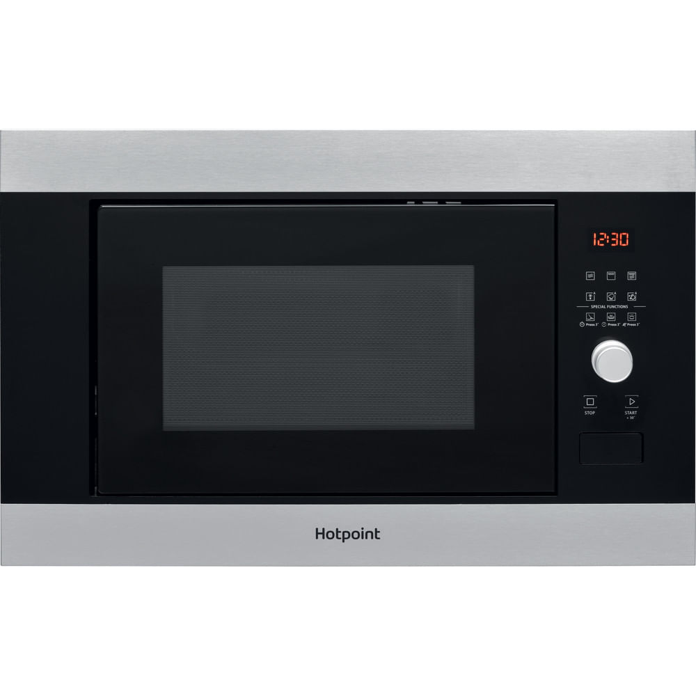Hotpoint Built in Microwave oven MF25G IX H : discover the specifications of our home appliances and bring the innovation into your house and family.