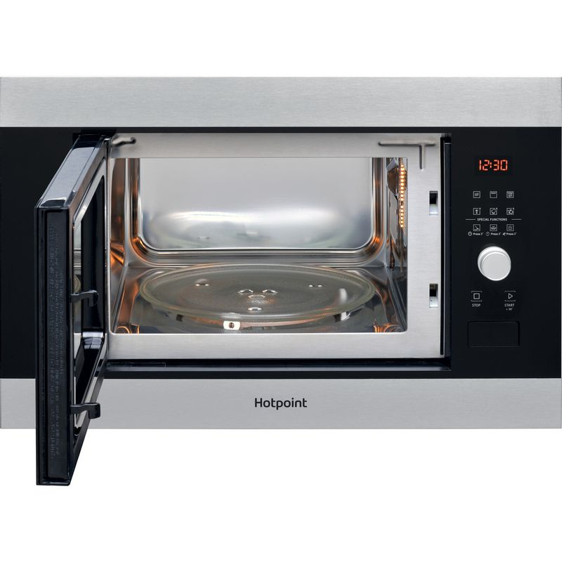 Hotpoint-Microwave-Built-in-MF25G-IX-H-Inox-Electronic-25-MW-Grill-function-900-Frontal-open
