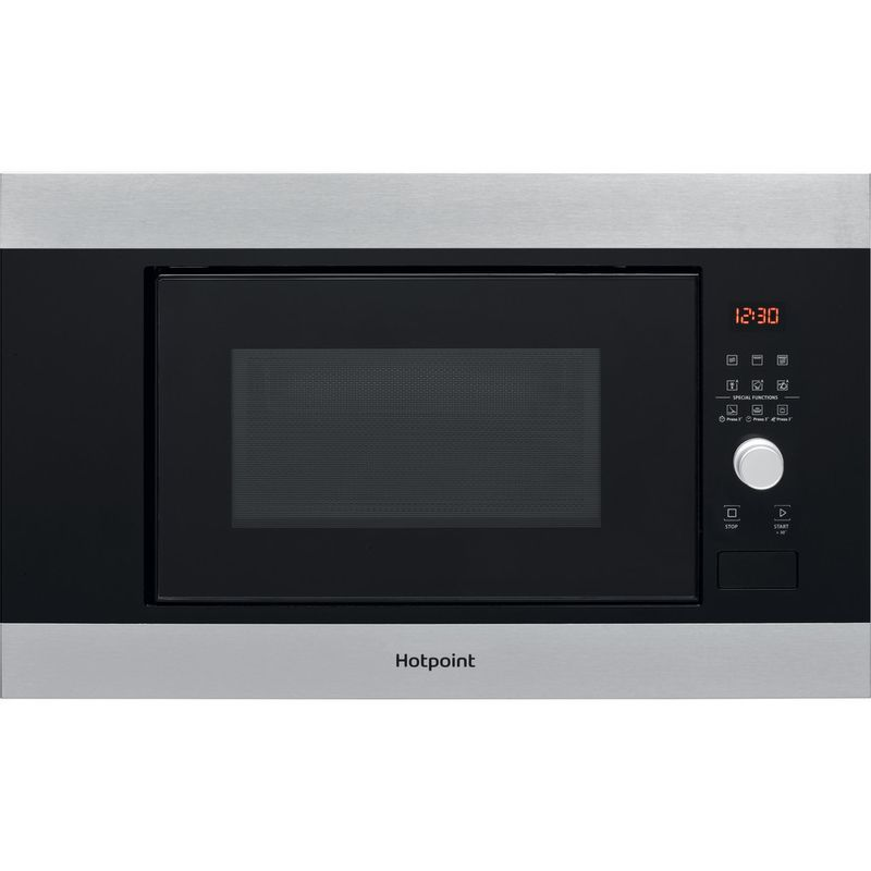 Hotpoint-Microwave-Built-in-MF20G-IX-H-Inox-Electronic-20-MW-Grill-function-800-Frontal
