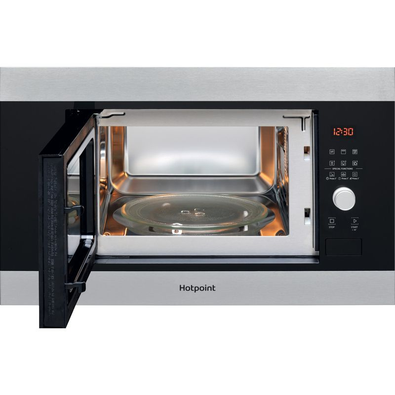 Hotpoint-Microwave-Built-in-MF20G-IX-H-Inox-Electronic-20-MW-Grill-function-800-Frontal-open