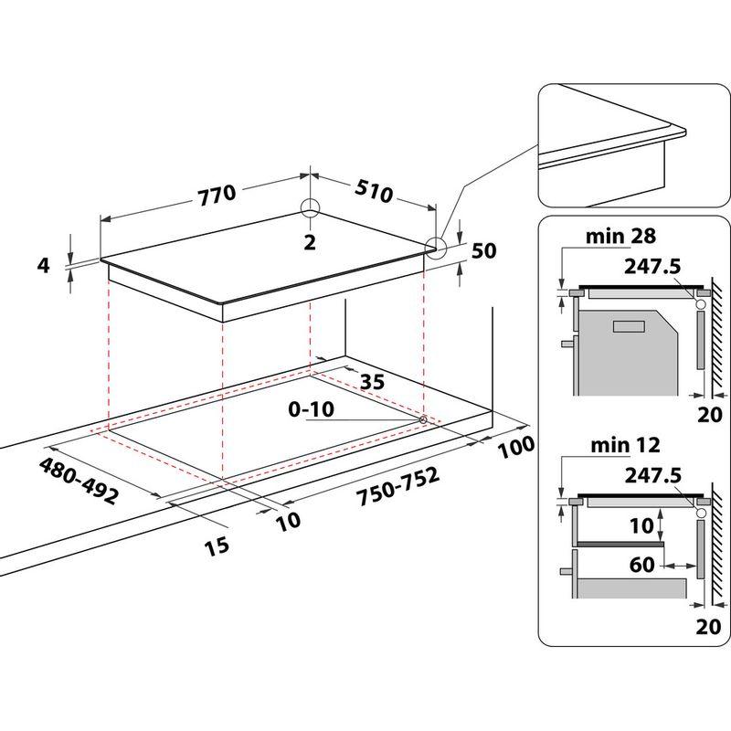 Hotpoint-HOB-TB-3977B-BF-Black-Induction-vitroceramic-Technical-drawing