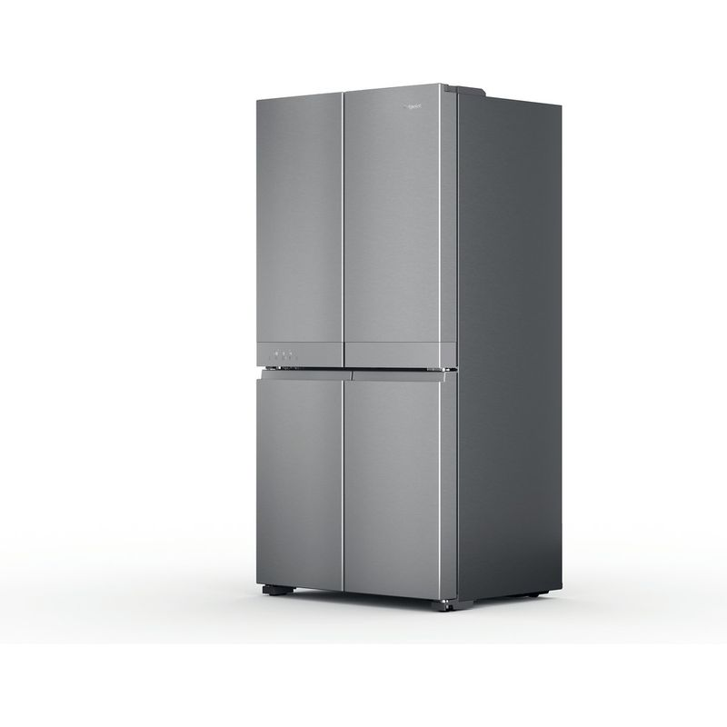 Hotpoint-Side-by-Side-Free-standing-HQ9-M2L-UK-Inox-Look-Perspective