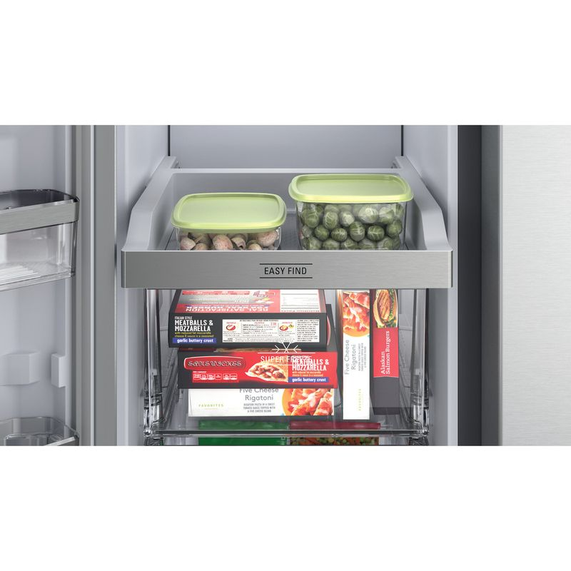 Hotpoint-Side-by-Side-Free-standing-HQ9-M2L-UK-Inox-Look-Drawer
