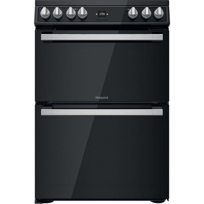 Hotpoint-Double-Cooker-HDT67V9H2CB-UK-Black-A-Frontal