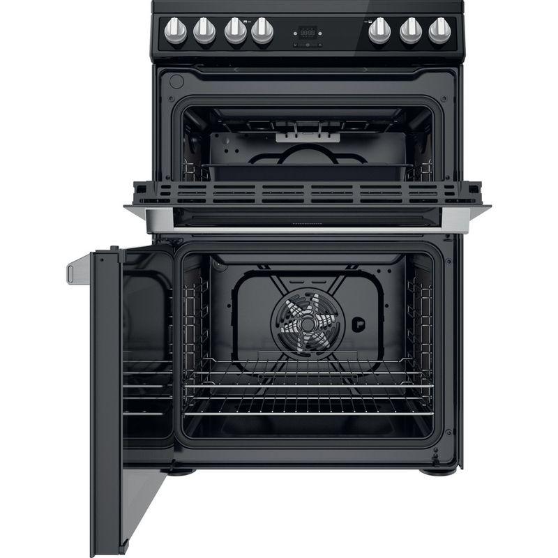 Hotpoint-Double-Cooker-HDT67V9H2CB-UK-Black-A-Frontal-open