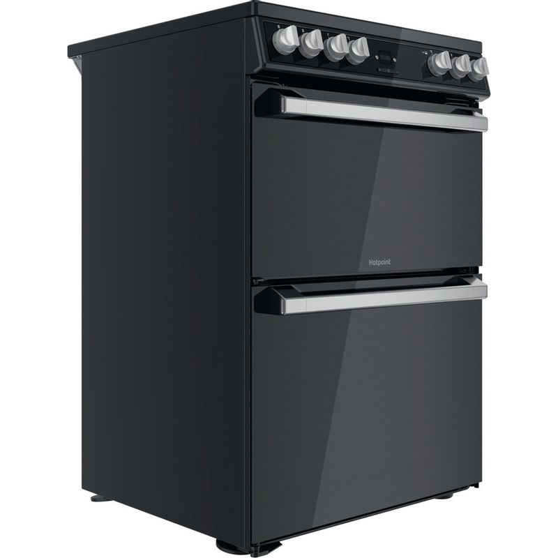 Hotpoint-Double-Cooker-HDT67V9H2CB-UK-Black-A-Perspective