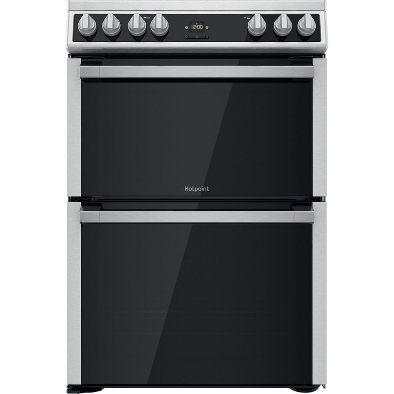 Hotpoint-Double-Cooker-HDT67V9H2CX-UK-Inox-A-Frontal