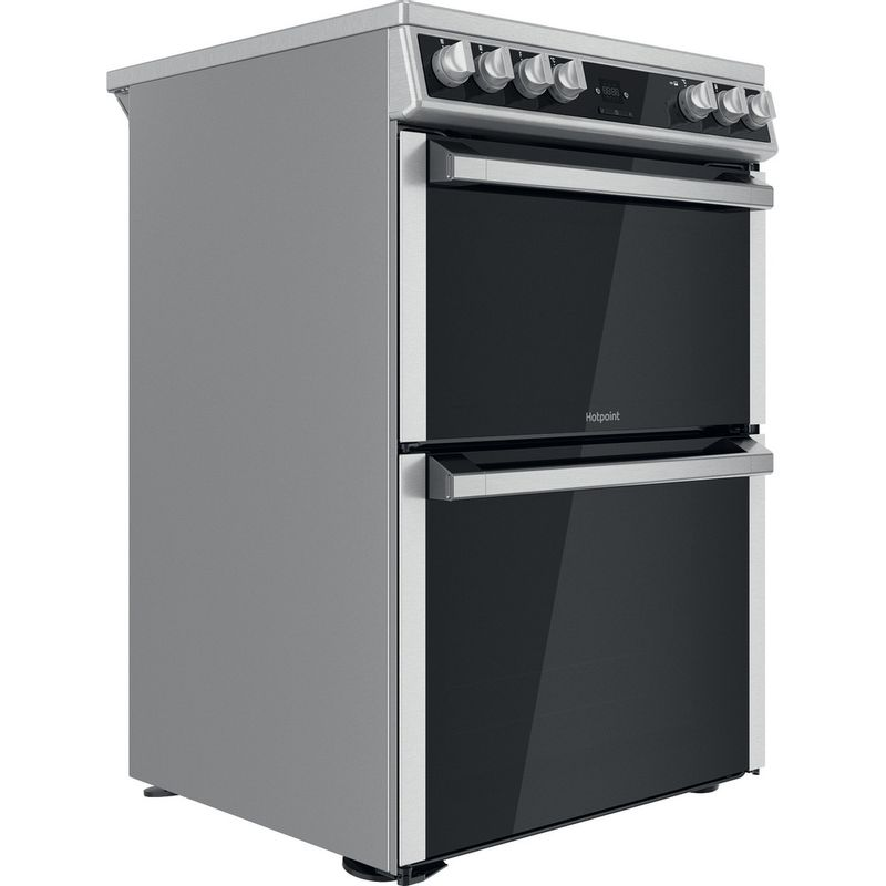 Hotpoint-Double-Cooker-HDT67V9H2CX-UK-Inox-A-Perspective