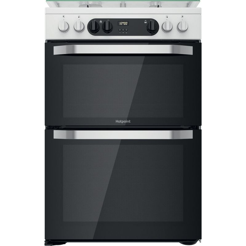 Hotpoint-Double-Cooker-HDM67G9C2CW-UK-White-A-Frontal